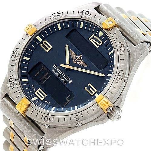 breitling aerospace titanium analog digital quartz