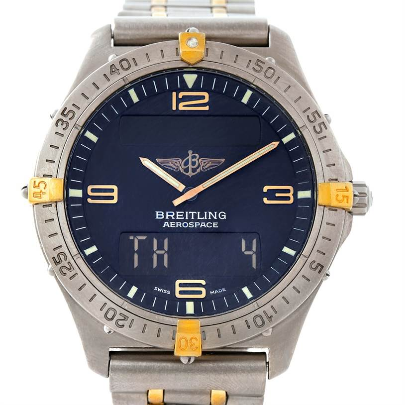 7595 Breitling Aerospace Titanium Analog Digital Quartz Watch F56062 SwissWatchExpo