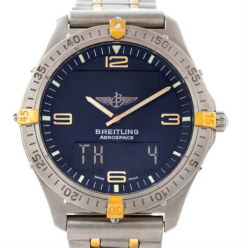 Photo of Breitling Aerospace Titanium Analog Digital Quartz Watch F56062