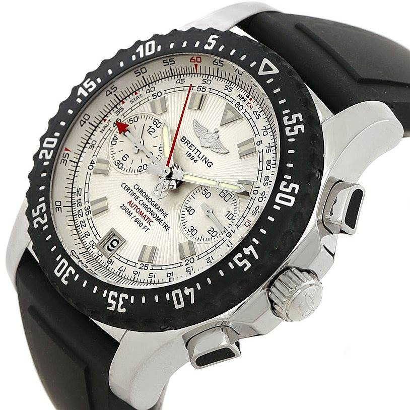 7450 Breitling Skyracer Raven Steel Rubber Watch A27364 SwissWatchExpo