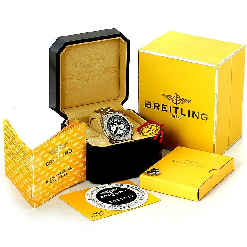 7873 Breitling Professional B-2 Mens Chronograph Steel Watch A42362 SwissWatchExpo