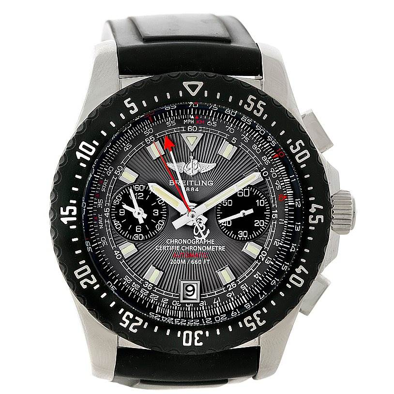 Breitling Skyracer Raven Steel Rubber Watch A27364 SwissWatchExpo