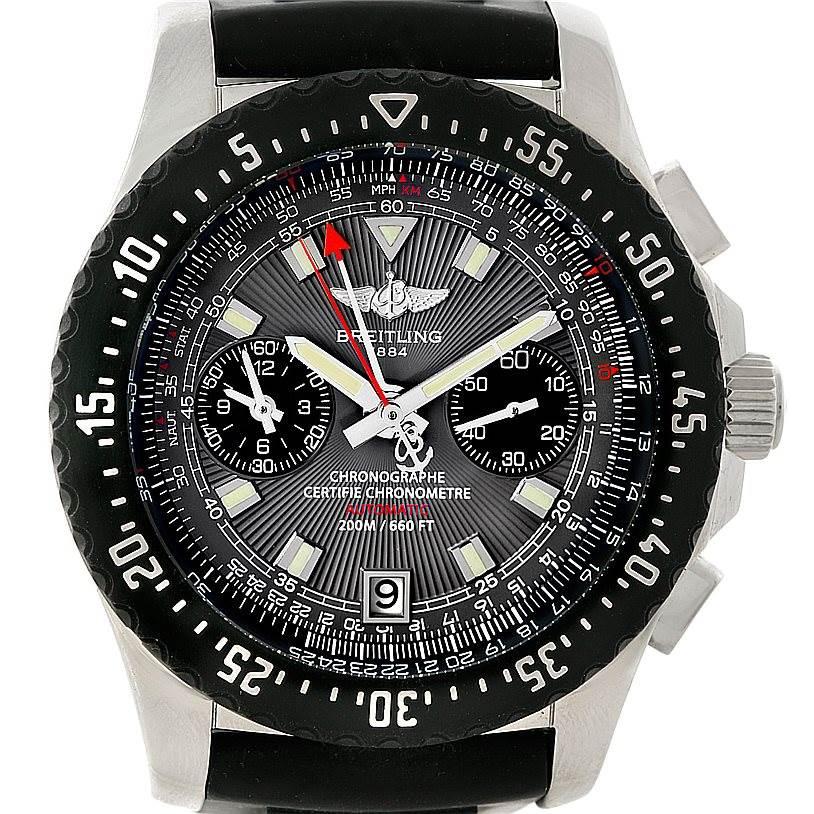 8200 Breitling Skyracer Raven Steel Rubber Watch A27364 SwissWatchExpo