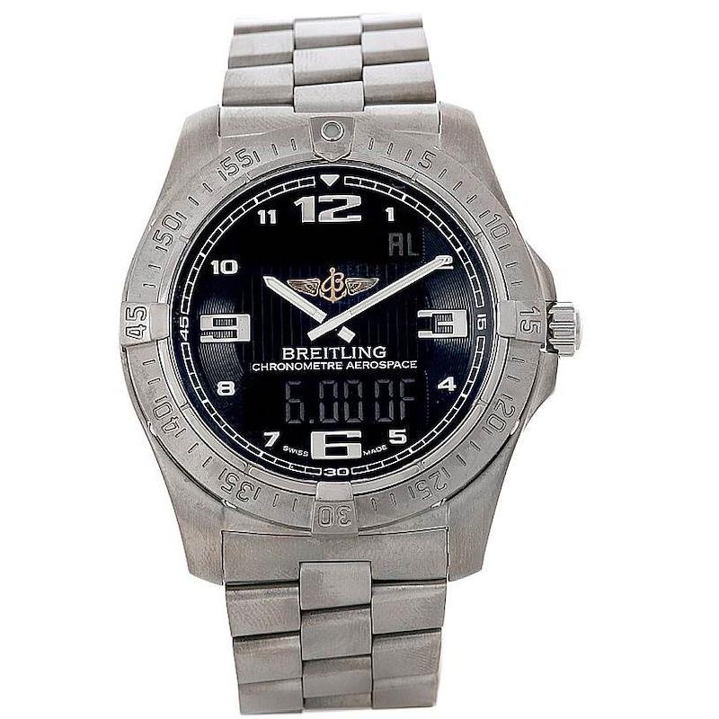 Breitling Professional Aerospace Avantage Titanium Quartz Watch E79362 SwissWatchExpo