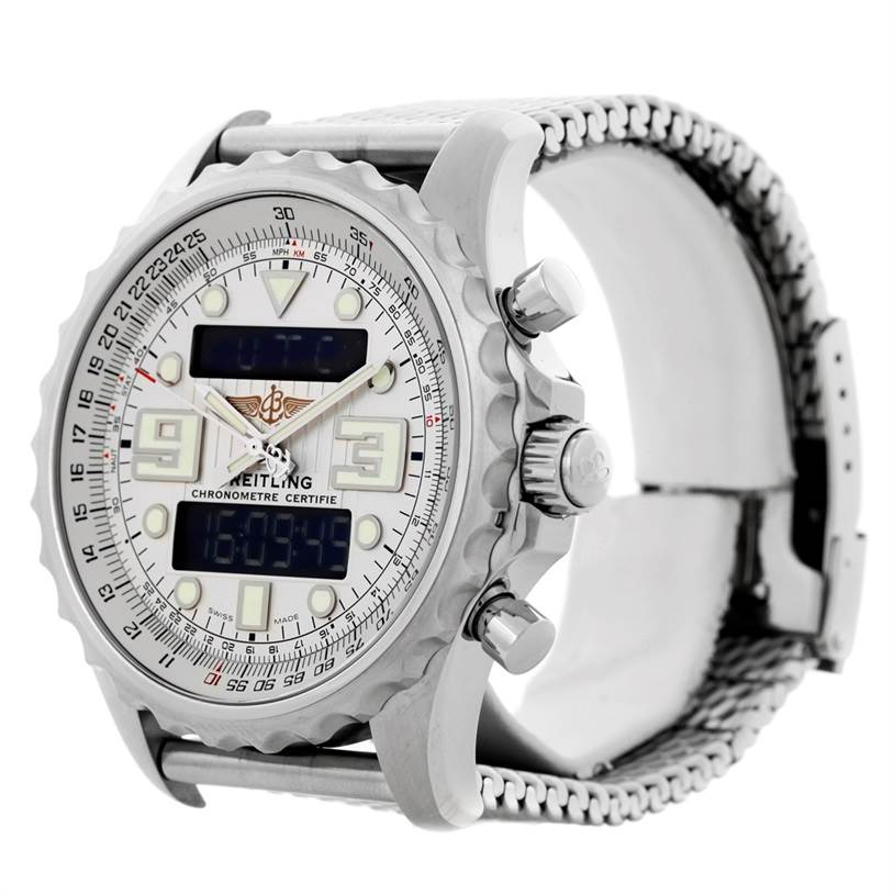 Breitling Professional Chronospace Steel Mens Watch A78365 SwissWatchExpo