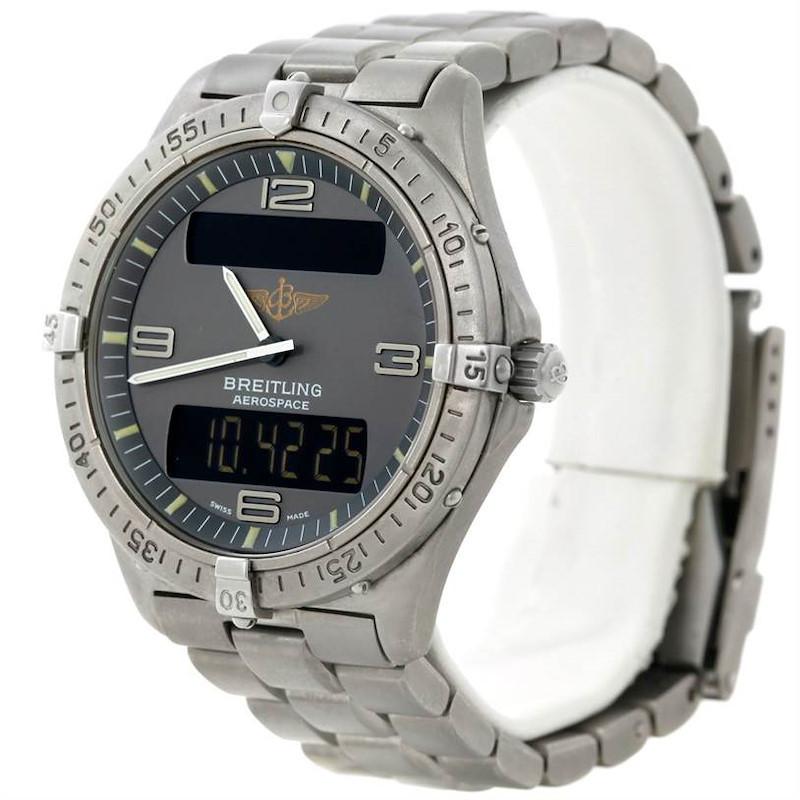 Breitling Professional Aerospace Titanium Quartz Watch E56062 SwissWatchExpo