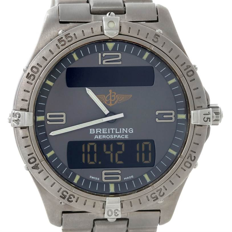 Breitling Professional Aerospace Titanium Quartz Watch E56062 SwissWatchExpo
