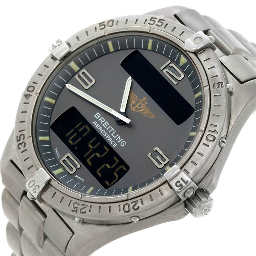 8839 Breitling Professional Aerospace Titanium Quartz Watch E56062 SwissWatchExpo
