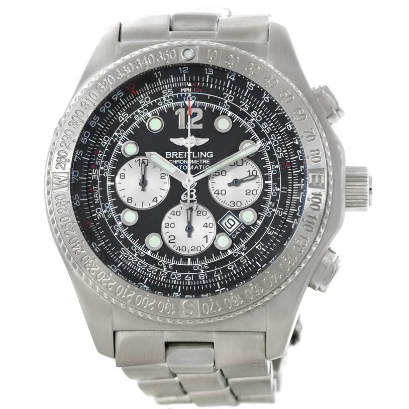 Breitling Professional B-2 Mens Chronograph Steel Watch A42362 SwissWatchExpo