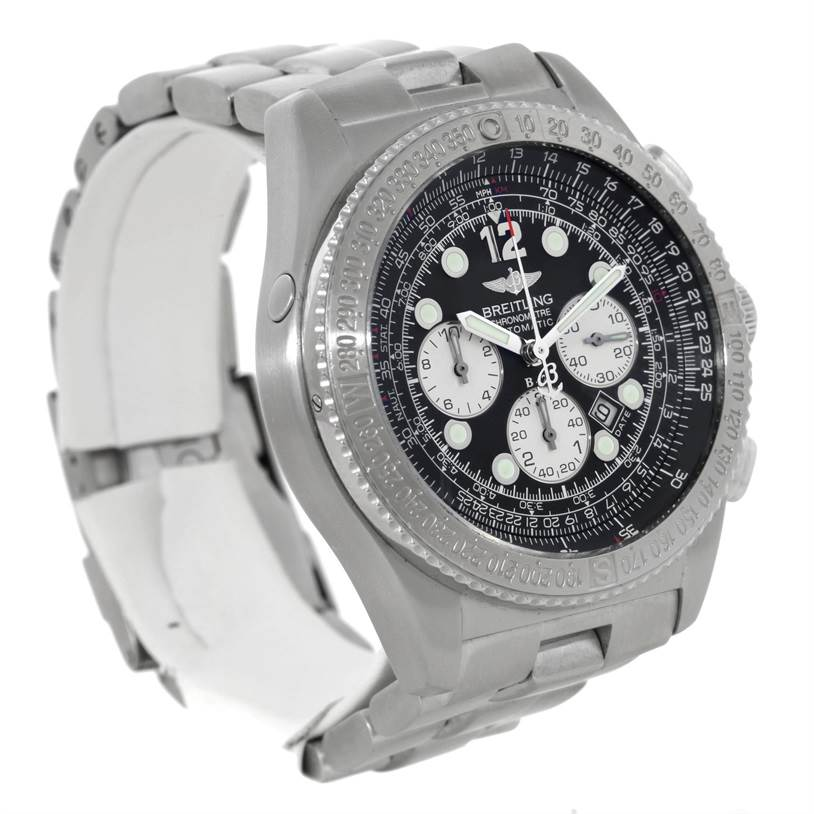 8947 Breitling Professional B-2 Mens Chronograph Steel Watch A42362 SwissWatchExpo
