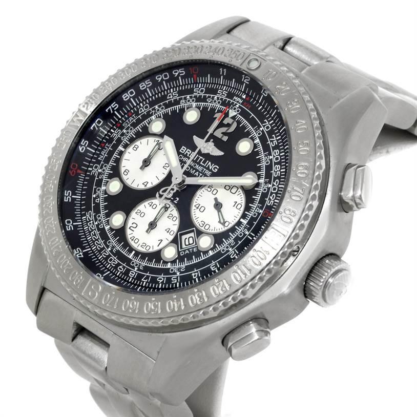 breitling professional b 2 mens chronograph steel a42362