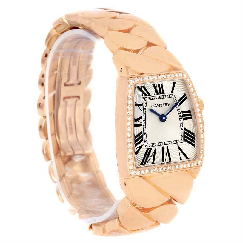 13023P Cartier La Dona 18K Rose Gold Diamond Large Ladies Watch WE601008 SwissWatchExpo