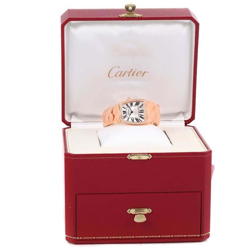 13023P Cartier La Dona 18K Rose Gold Diamond Large Ladies Watch WE601008 SwissWatchExpo