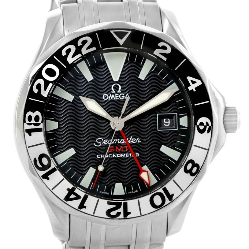 10740 Omega Seamaster GMT 50th Anniversary Mens Watch 2534.50.00 Box Papers SwissWatchExpo