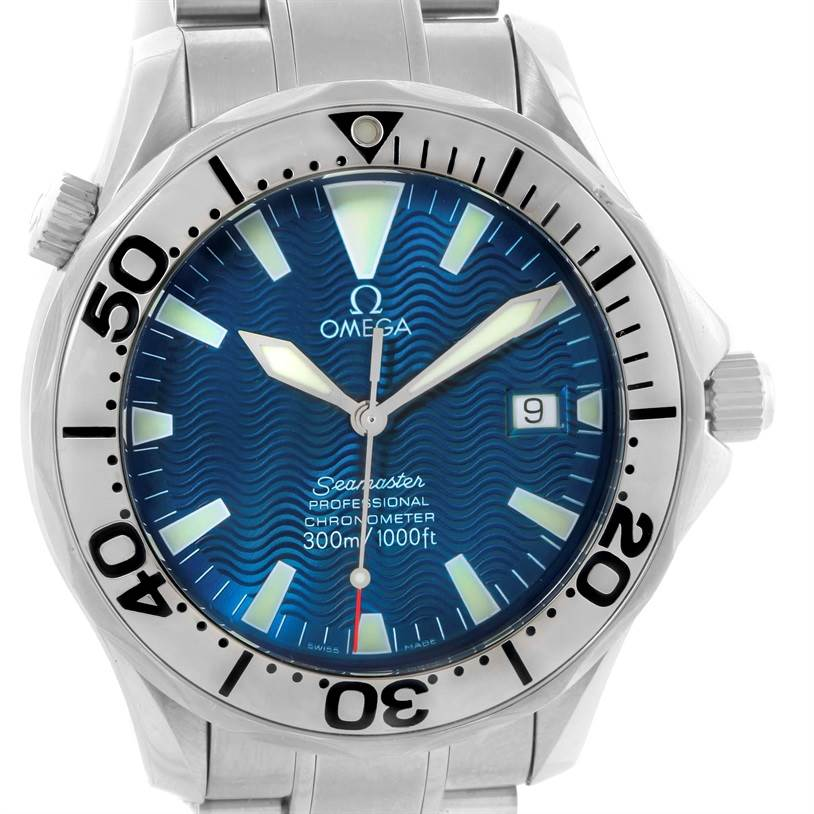 10781 Omega Seamaster 300M Stainless Steel Automatic Mens Watch 2255.80.00 SwissWatchExpo
