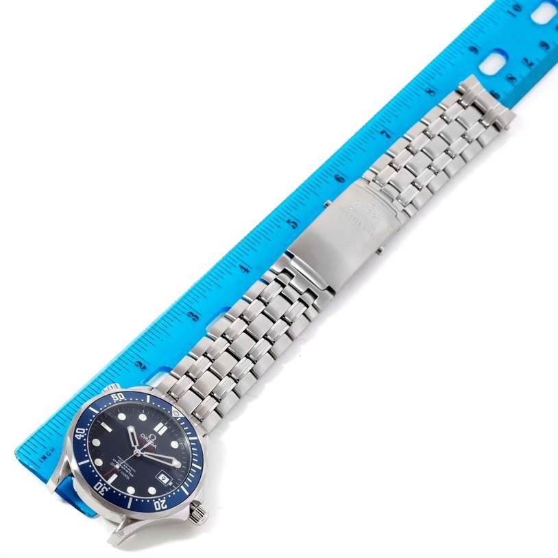 Omega seamaster bond 300m blue dial watch box for Blue bond paper