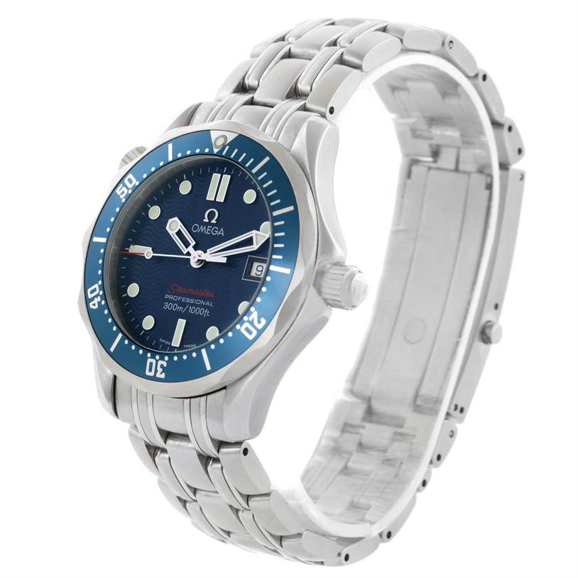 11580 Omega Seamaster 300M Blue Dial Quartz Midsize Watch 2223.80.00 SwissWatchExpo
