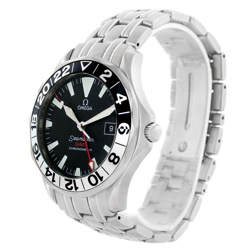 omega seamaster gmt 50th anniversary automatic mens watch. Black Bedroom Furniture Sets. Home Design Ideas