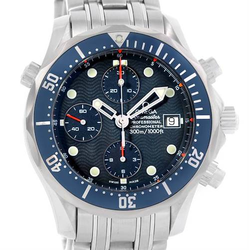 Photo of Omega Seamaster James Bond Steel Chrono Diver Watch 2599.80.00