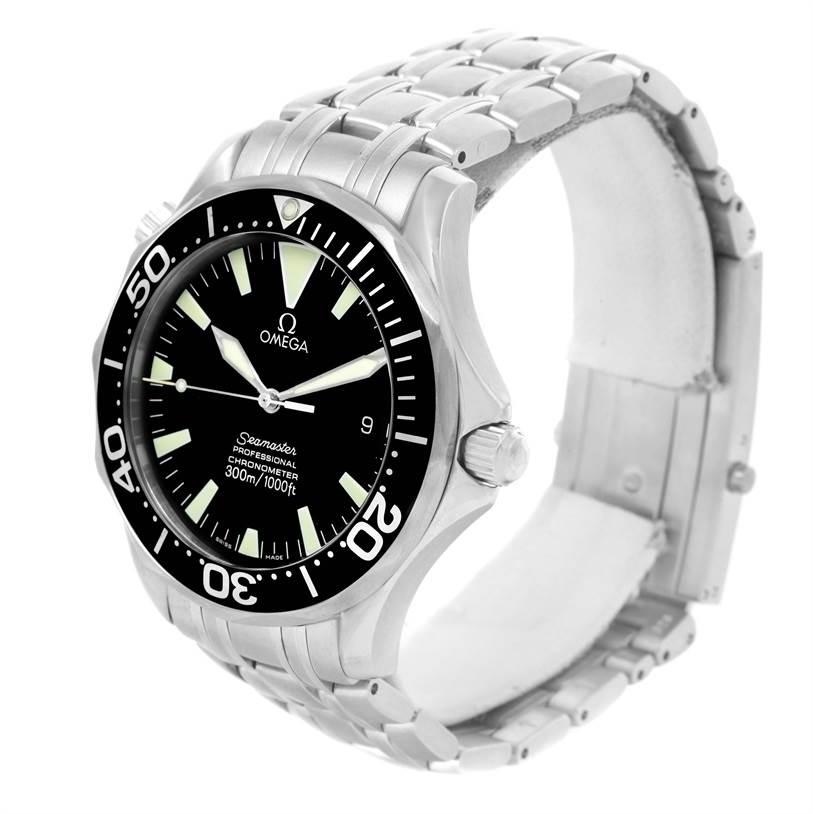 omega seamaster professional 300m black dial mens watch. Black Bedroom Furniture Sets. Home Design Ideas
