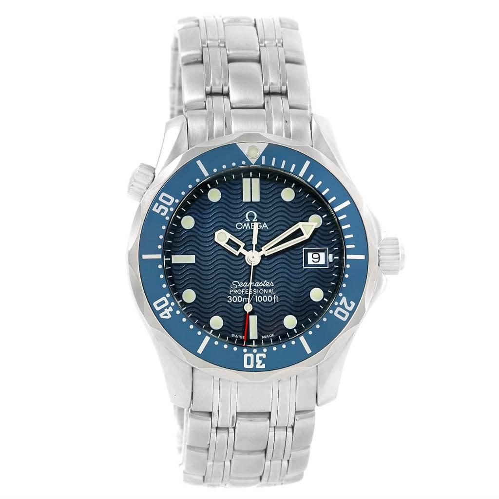 Omega Seamaster Bond Blue Wave Dial Midsize Quartz Watch