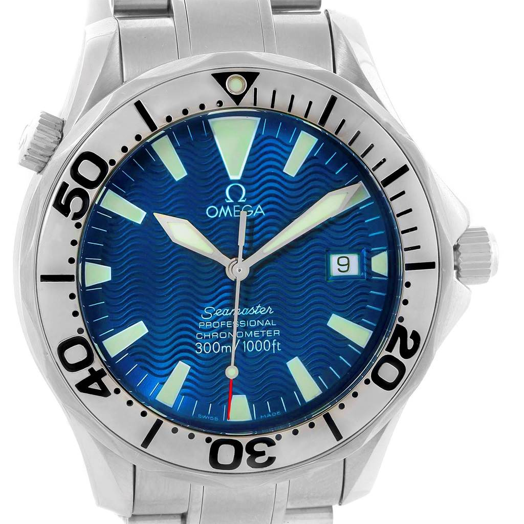 13588 Omega Seamaster 300M Stainless Steel Automatic Mens Watch 2255.80.00 SwissWatchExpo