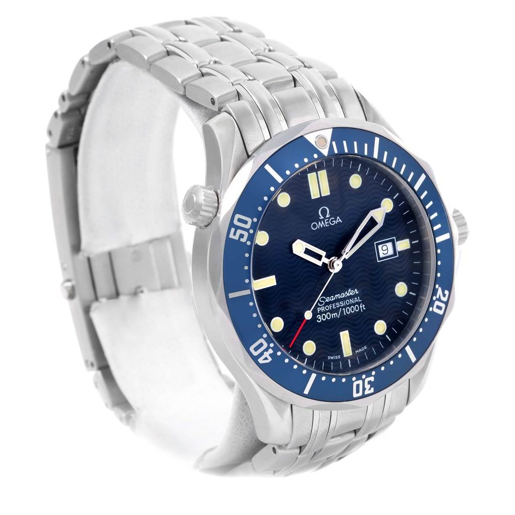 e88b3bbf690 ... 14150 Omega Seamaster Professional James Bond Watch 2541.80.00 Box Card  SwissWatchExpo ...