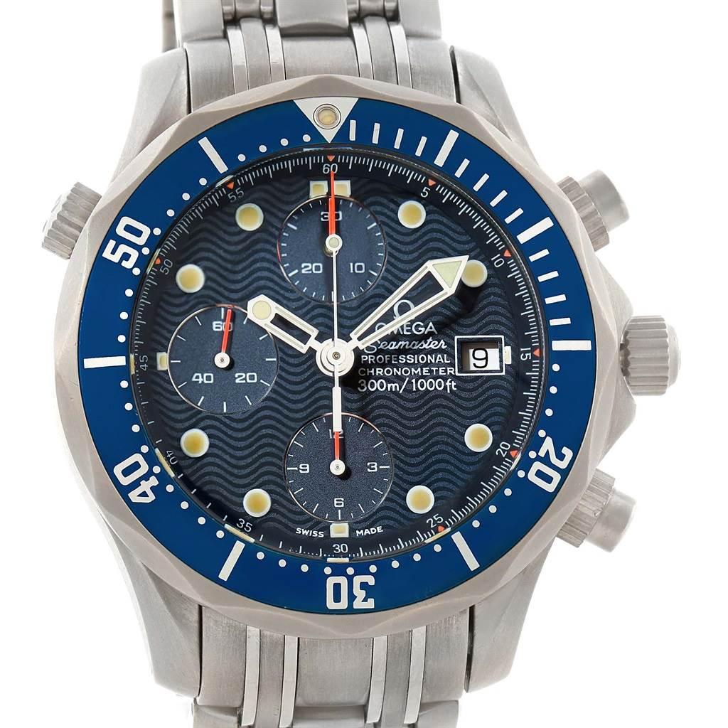 omega seamaster chronograph titanium automatic mens