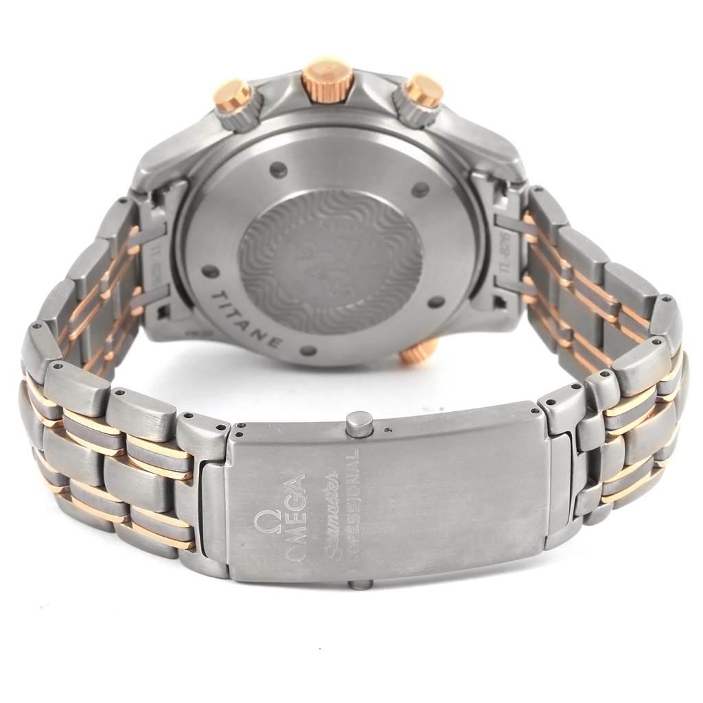 95c34325086 15224 Omega Seamaster Titanium Rose Gold Blue Wave Dial Mens Watch  2296.80.00 SwissWatchExpo ...