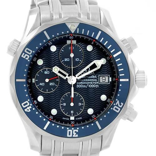 Photo of Omega Seamaster Bond Chrono Blue Wave Dial Steel Mens Watch 2599.80.00