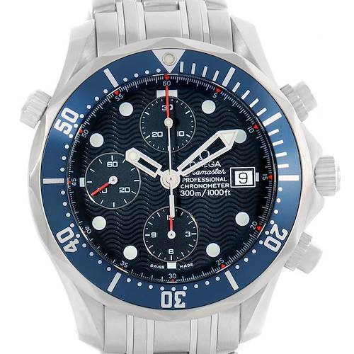 Photo of Omega Seamaster Chrono Diver 300m Blue Dial Steel Mens Watch 2599.80.00