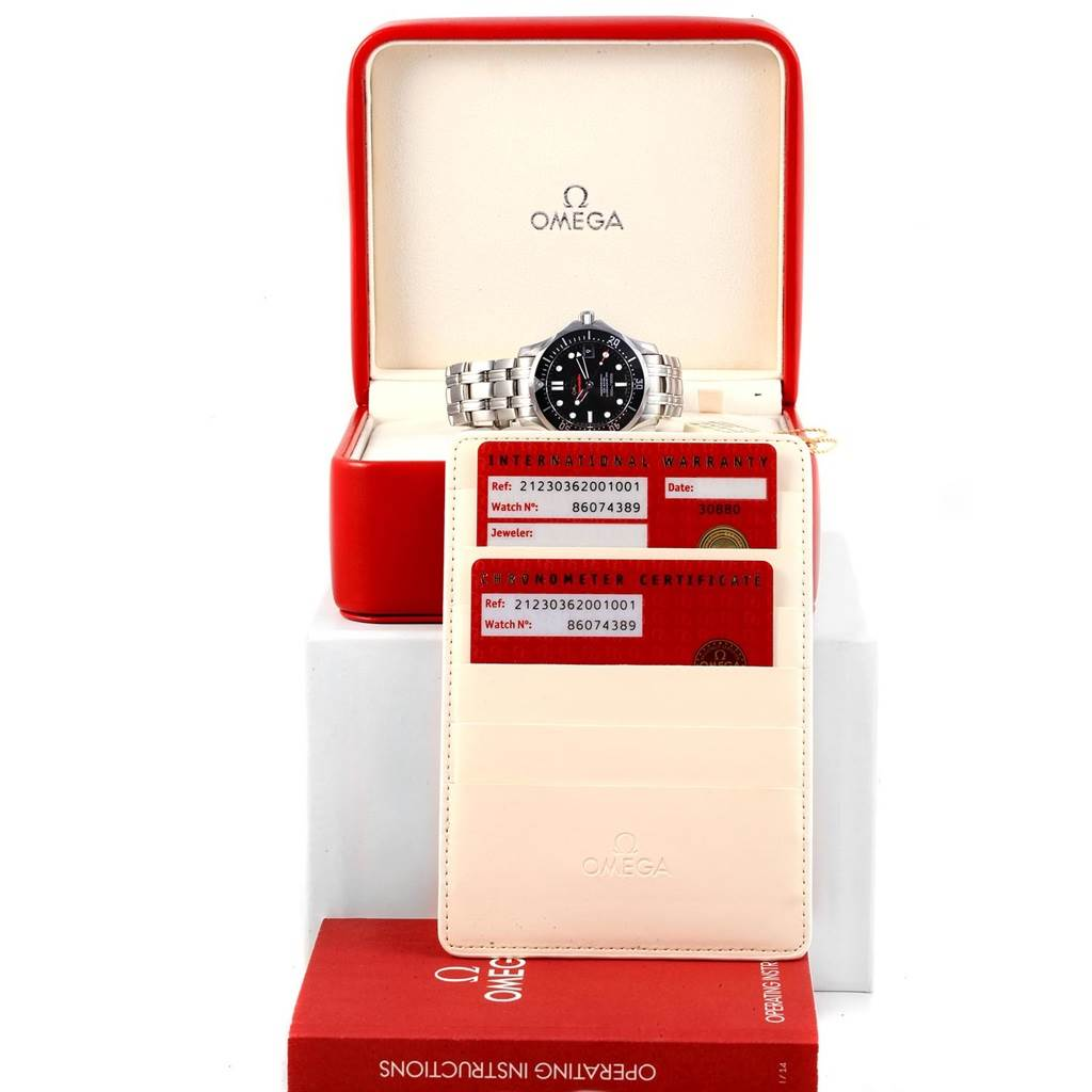 17303 Omega Seamaster 300M Midsize Watch 212.30.36.20.01.001 Box Card SwissWatchExpo