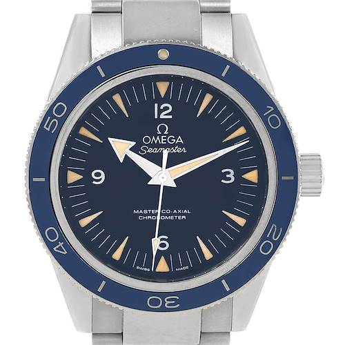 Photo of Omega Seamaster 300 Blue Dial Titanium Watch 233.90.41.21.03.001