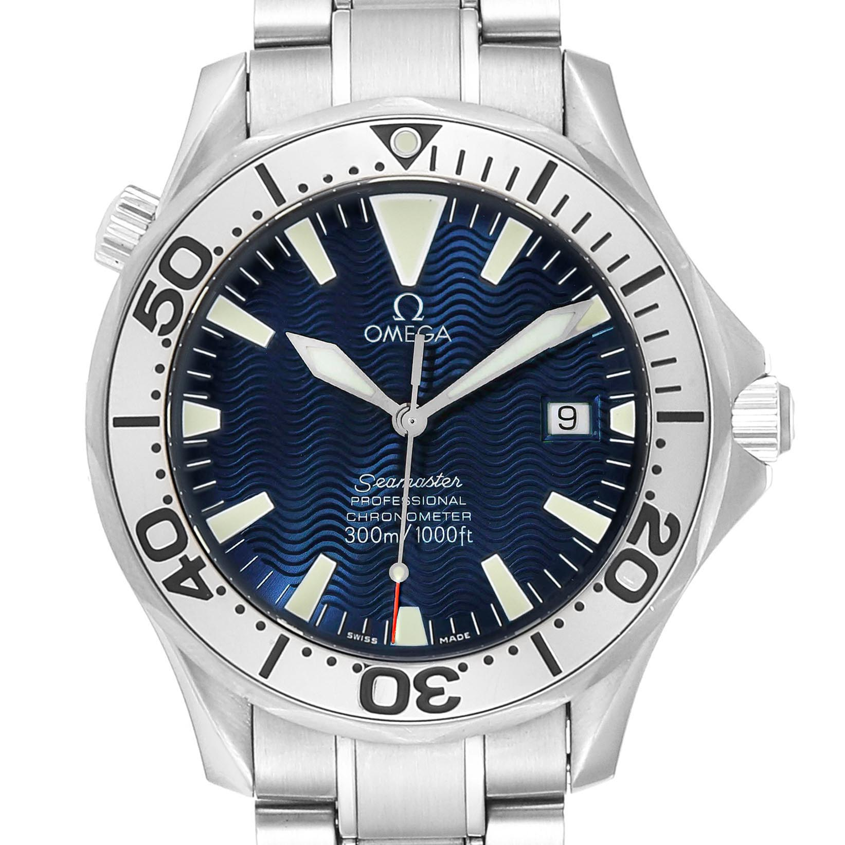 Omega Seamaster Blue Dial Automatic Steel Mens Watch 2255.80.00
