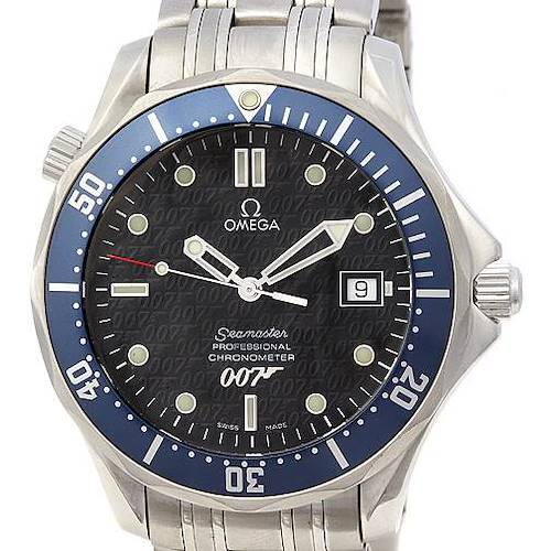 Photo of Omega Seamaster James Bond Limited Edition Gun Logo Watch