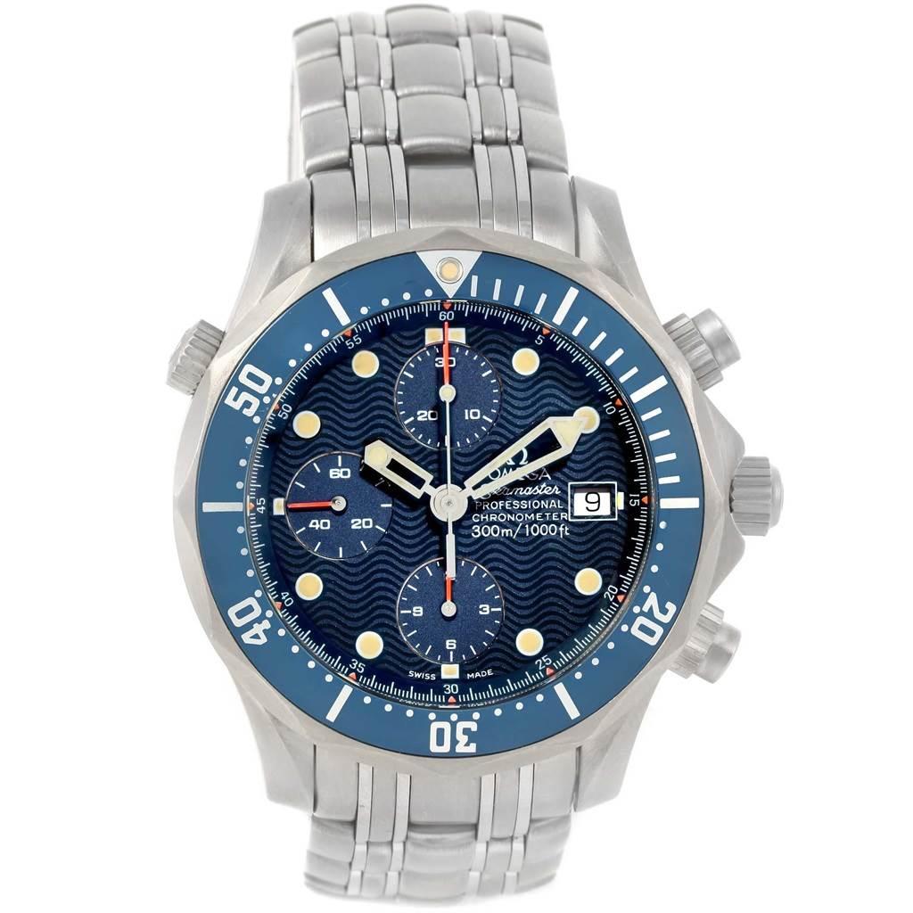 ... 17930 Omega Seamaster Chronograph Blue Dial Titanium Watch 2298.80.00  SwissWatchExpo ... 1801826faa08