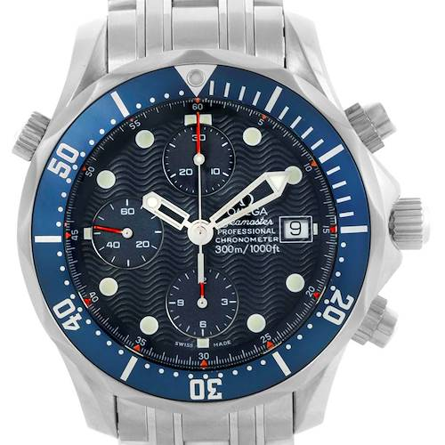Photo of Omega Seamaster 300 Chronograph 41.5 mm Mens Watch 2225.80.00 Box Card
