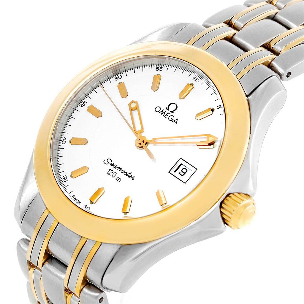 17844 Omega Seamaster 120M Steel Yellow Gold 36mm Quartz Mens Watch Box Card SwissWatchExpo