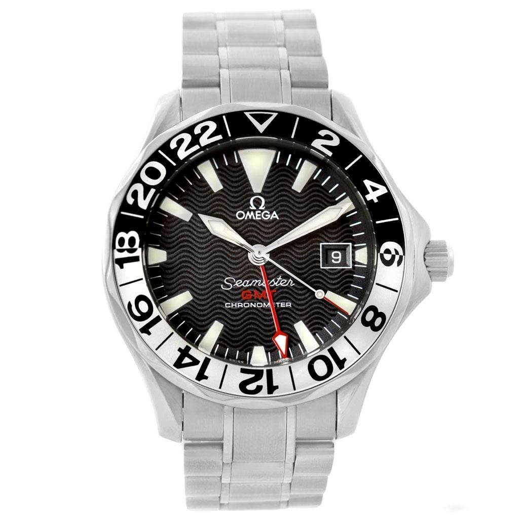 omega seamaster gmt 50th anniversary steel mens watch 2234. Black Bedroom Furniture Sets. Home Design Ideas
