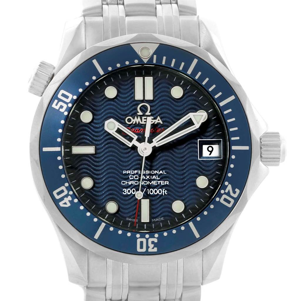 20865 Omega Seamaster Midsize Co-Axial Blue Wave Dial Watch 2222.80.00 SwissWatchExpo