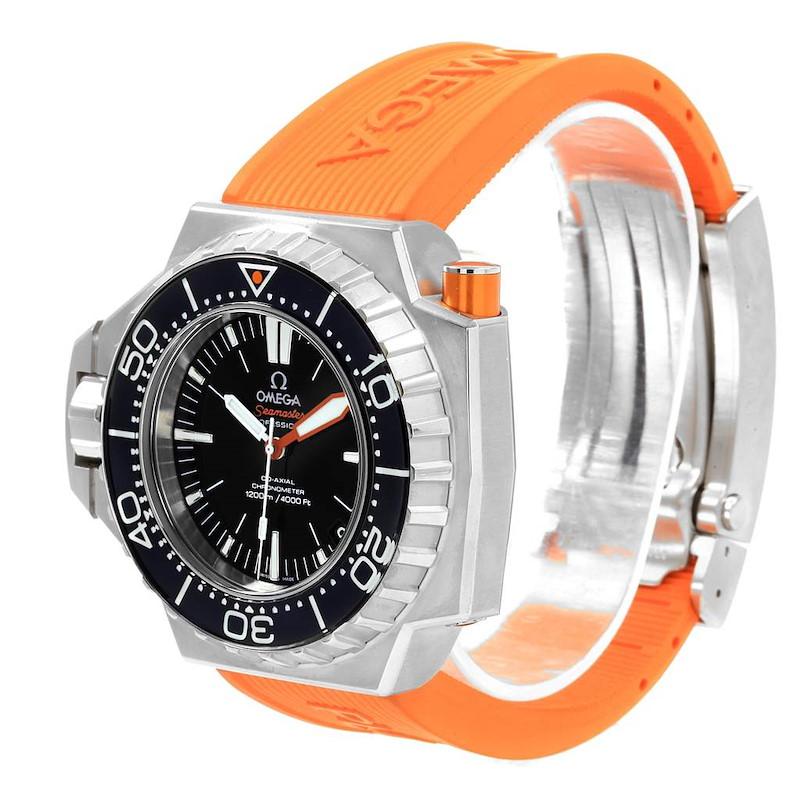 Omega Seamaster Ploprof 1200m Orange Strap Mens Watch 224.32.55.21.01.002 SwissWatchExpo