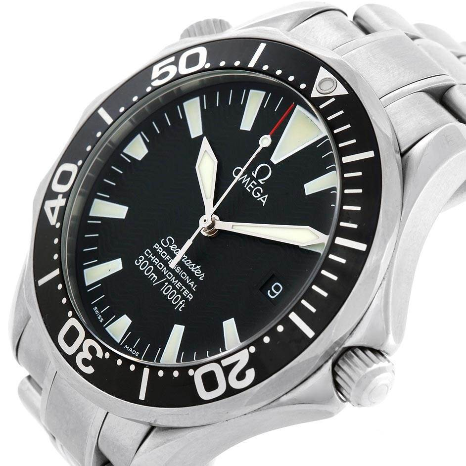 19922 Omega Seamaster 41 300M Black Dial Steel Mens Watch 2254.50.00 Box SwissWatchExpo