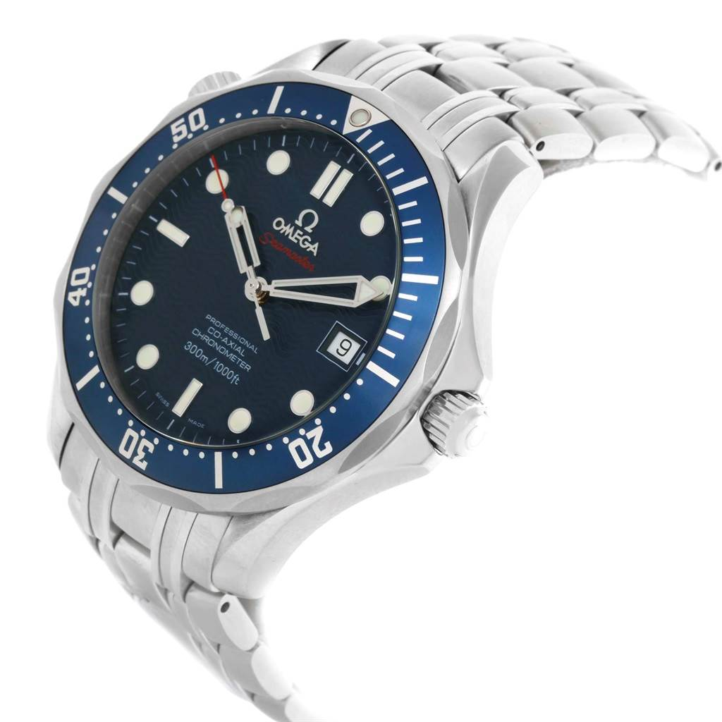 19933 Omega Seamaster Bond 300M Co-Axial 41mm Blue Dial Watch 2220.80.00 SwissWatchExpo
