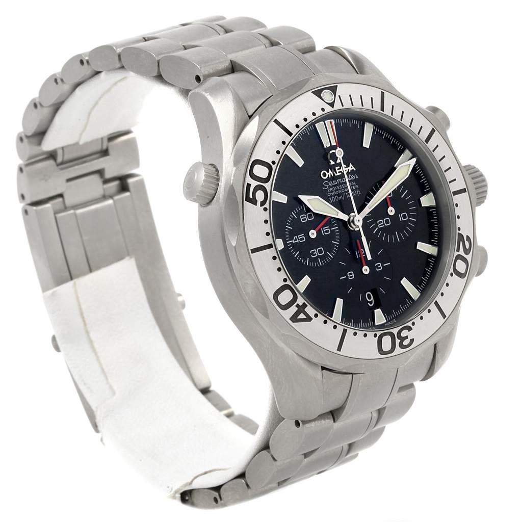 20929 Omega Seamaster 300M Diver Chronograph Titanium Mens Watch 2293.52.00 SwissWatchExpo
