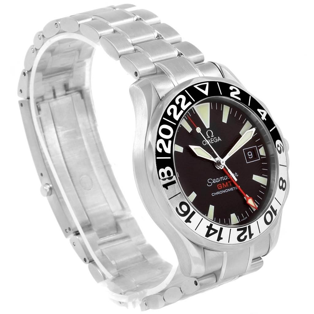 20534 Omega Seamaster GMT 50th Anniversary Steel Mens Watch 2234.50.00 SwissWatchExpo