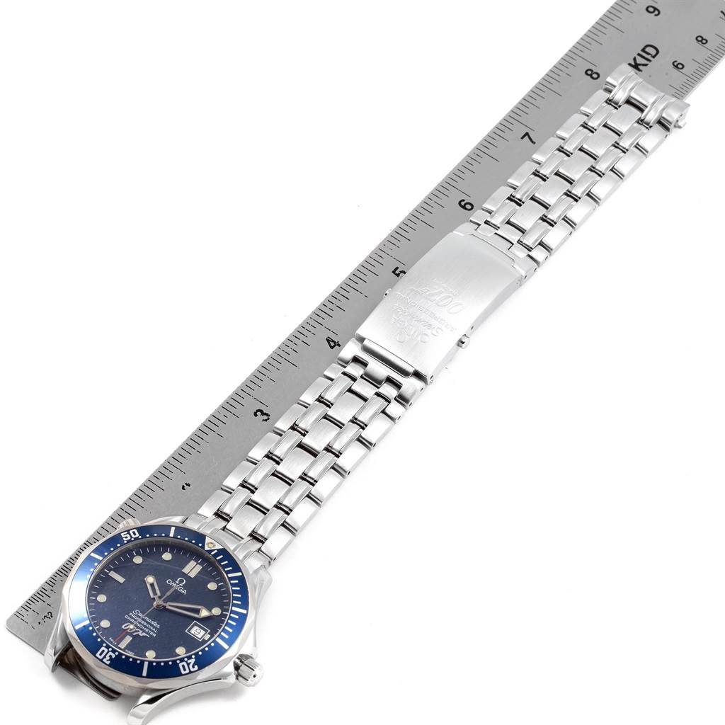 20469 Omega Seamaster 40 Years James Bond Blue Dial Watch 2537.80.00 SwissWatchExpo