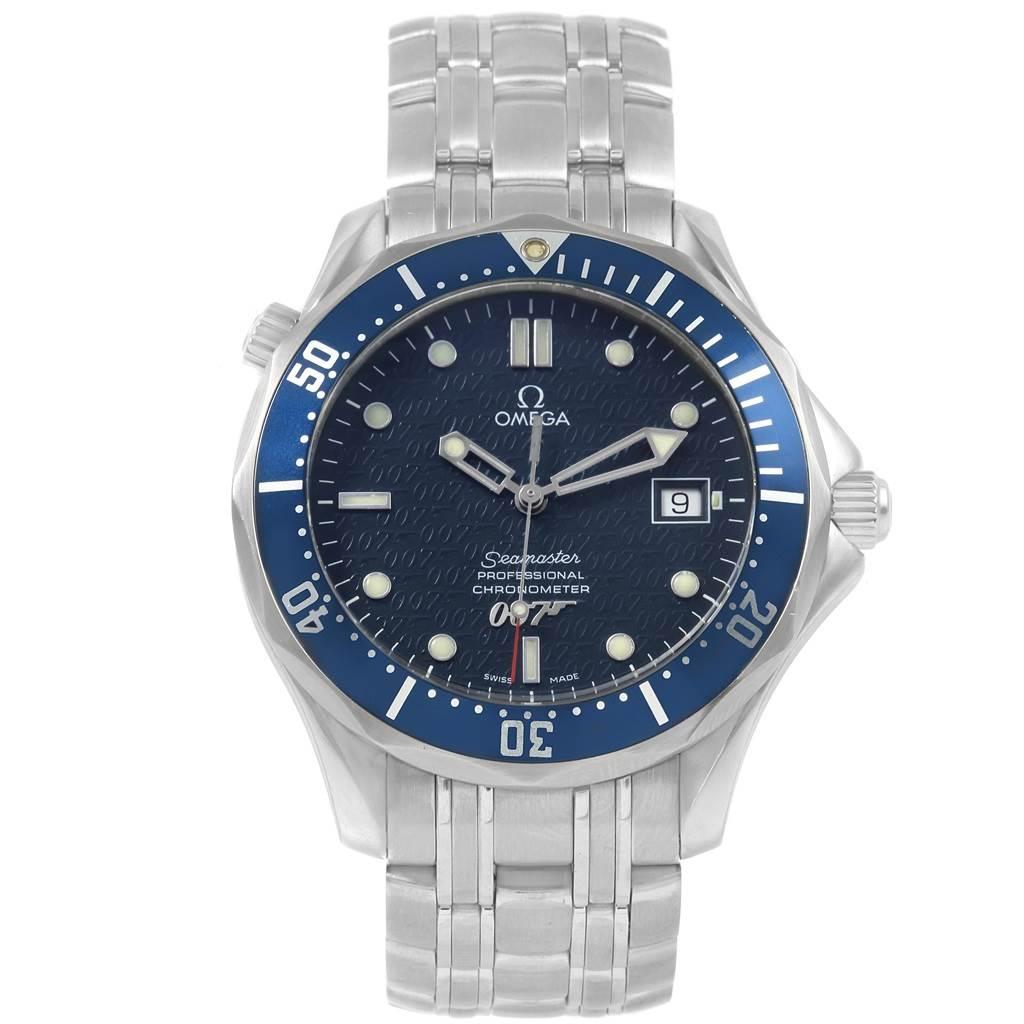 20469 Omega Seamaster 40 Years James Bond Blue Dial Watch 2537.80.00 SwissWatchExpo