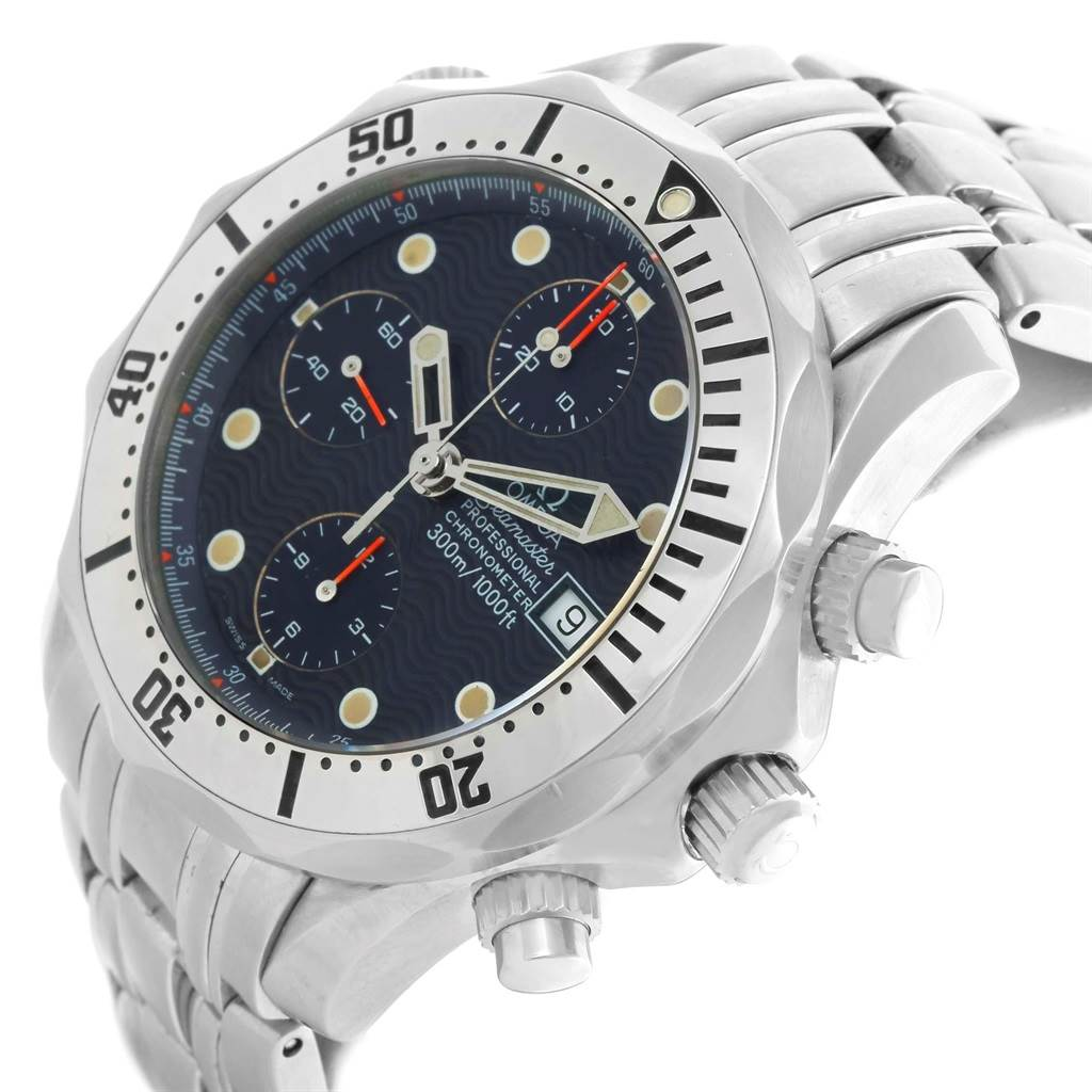 16068 Omega Seamaster Chronograph Mens Watch 2598.80.00 Card SwissWatchExpo