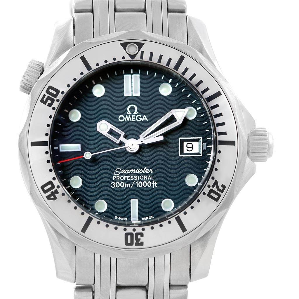 15033 Omega Seamaster Steel Midsize 300 m Mens Watch 2562.80.00 Card SwissWatchExpo