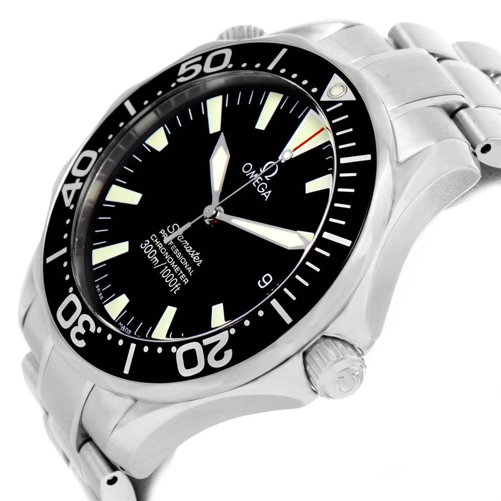 19872 Omega Seamaster 41 300M Black Dial Mens Watch 2254.50.00 Card SwissWatchExpo
